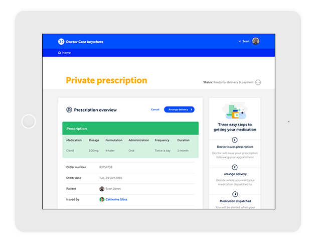 prescriptions doctor care anywhere
