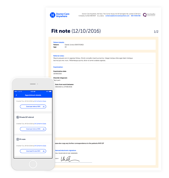 Referrals fit notes – Fit Note